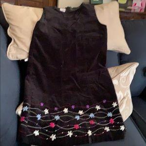 Black Talbot's Kids velvet dress